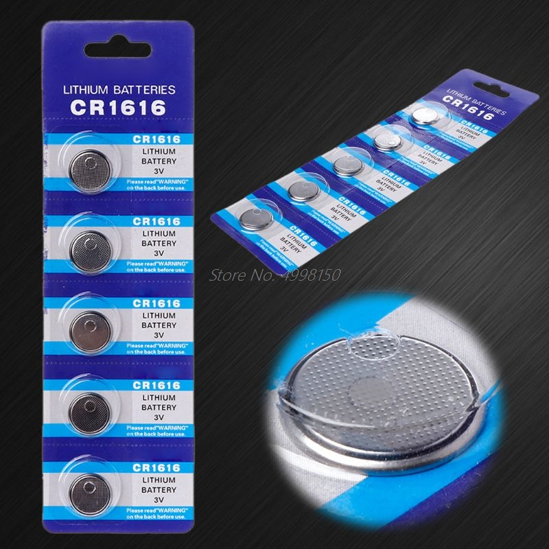5PCS Button Battery CR1616 Lithium Coin Cell Batteries 3V DL1616 ECR1616 LM1616 CR 1616 <font><b>Electronic</b></font> <font><b>Car</b></font> <font><b>Key</b></font> Watch Toy Remote image