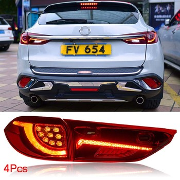 Tail lights LED Red Lens Rear Taillight Assembly Lamp Fit For Mazda CX-4