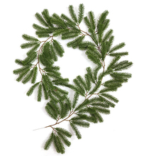 1.8m Artificial Pine Needle Rattan Christmas Garland Wreath Home Party Christmas Decoration Hanging Ornament Fireplace Decor