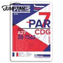 Jump Time for Paris Airport Vinyl Stickers Travel CDG Sticker Laptop Luggage Camper Window Bumper Motor Decal Car Wrap(China)
