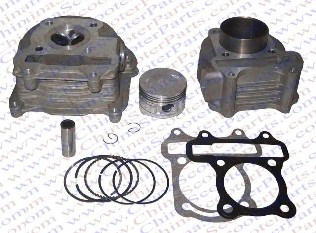 Kit de joint d'anneau de Piston de cylindre d'arbre à cames de tête de la Performance 47MM (Kit de grand alésage) GY6 80CC 72ML Jonway Yiying Wangye Baotian ensoleillé