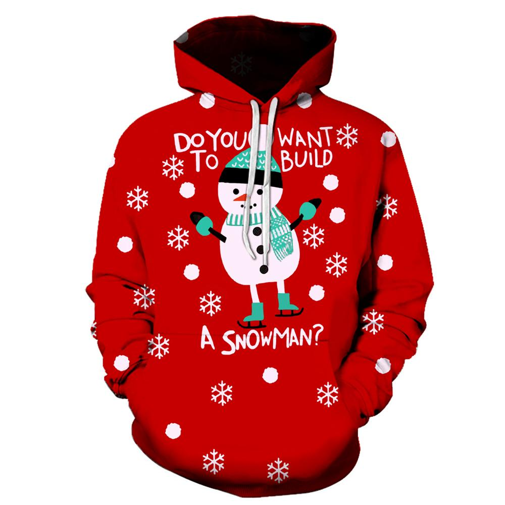 2020 New Men's Christmas Hoodie Sweatshirt Fall/winter Casual 3D Santa Claus Printed Long Sleeve Funny Christmas Day Jumpsuit