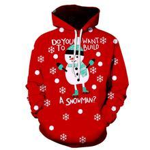 2020 new men's Christmas hoodie sweatshirt fall/winter casual 3D Santa Claus printed long sleeve funny Christmas day jumpsuit santa claus 3d printed christmas sweatshirt