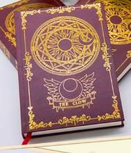 Блокнот Sakura Captor Sakura CERBERUS Clow Libra с узором звезда волшебный блокнот для путешествий Журнал Дневник Книга аниме мультяшный подарок