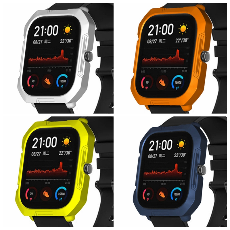 OLLIVAN Texture Case For Xiaomi Amazfit GTS Protection Cover For Amazfit GTS Screen Protector Slim Frame PC Cases With Film