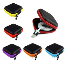 Earphone Wire Organizer Box Headphone Case Key Coin Bags Travel Storage Bag For Charger