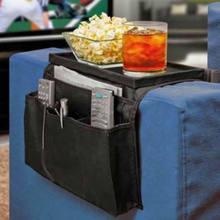 Prático economia de espaço sofá braço resto organizador mesa bandeja sofá armazenamento bolsos na moda durável revista rack 6 bolsos