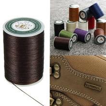 0.8mm 90m encerado fio cabo de reparo corda costura couro mão cera costura diy thread para caso artes artesanato ferramenta