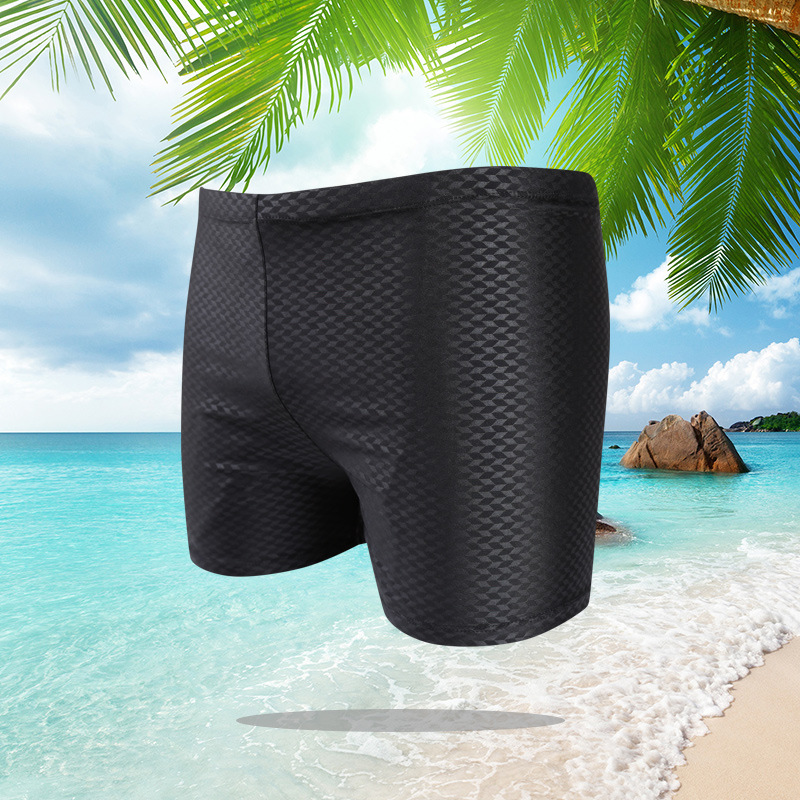 New Style Swimming Trunks Men Fashion Boxer Swimming Trunks Men Faux Sharkskin Swimming Trunks 2019 Hot Selling Swimming Trunks