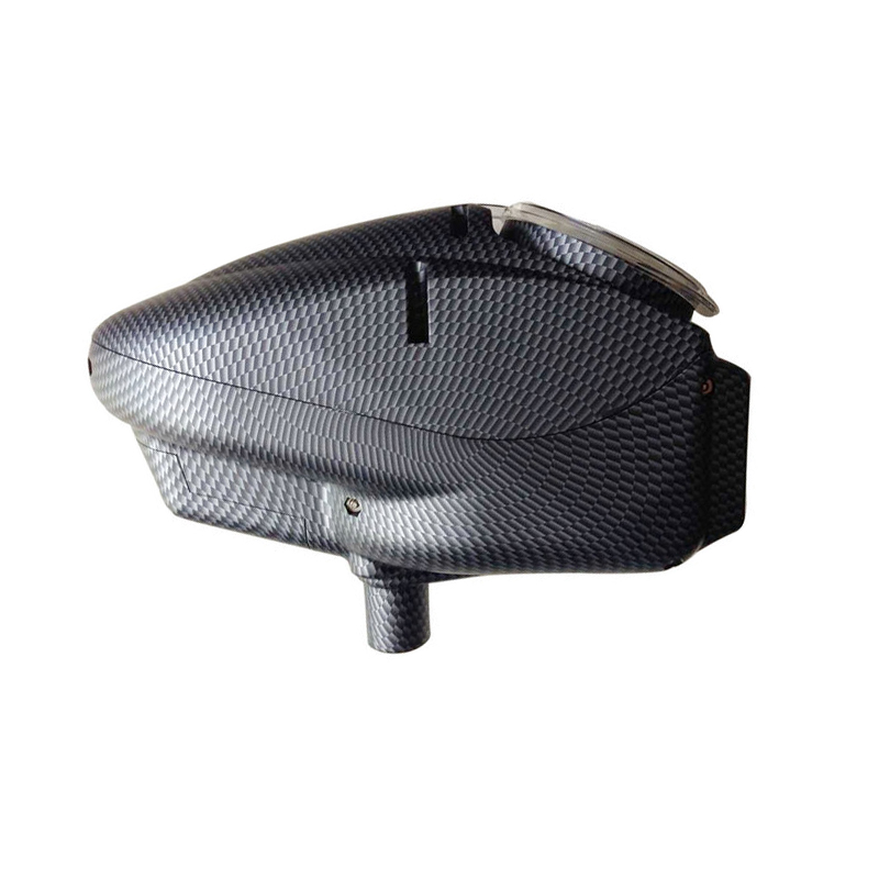 0.68 Paintball Feeding 180 Rounds Hopper For Electronic Loader Replacement Special Color Carbon Fibre Shining