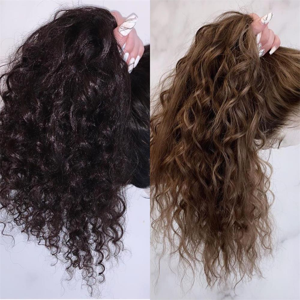 360 Lace Wig Human Hair Wigs Black And Brown Curly Preplucked Bleached Knots Natural Peruvian Remy