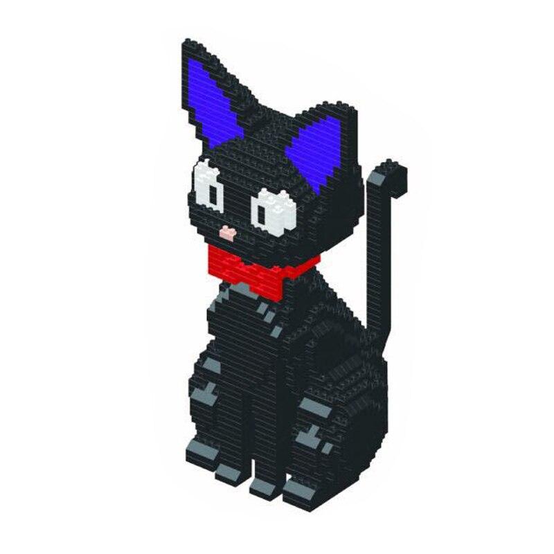Image 5 - Babu 8806 Cartoon JiJi Black Cat Sit Animal Pet 3D Model 1780pcs DIY Diamond Mini Building Blocks Bricks Toy for Children no BoxBlocks   -