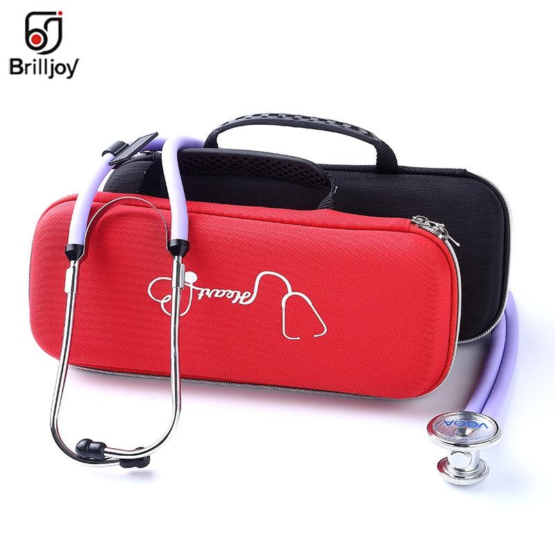 Brilljoy Portable Stethoscope Storage Box Medical Kit Organizer Carry Case Travel Audio Record Pen Bag For Nurse Pregnant Women