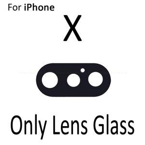 Image 3 - Nueva cámara trasera de vidrio anillo de la lente para iPhone X 7 8 Plus con marco de piezas de repuesto
