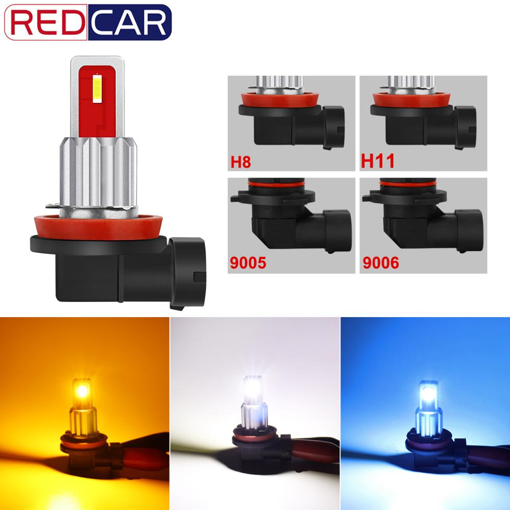 1pcs Car Fog Light H8 H11 9005 HB3 9006 HB4 Led Lamp CSP Super Bright Chip 1800LM 6000K Pure White Turning Parking Bulb 12V