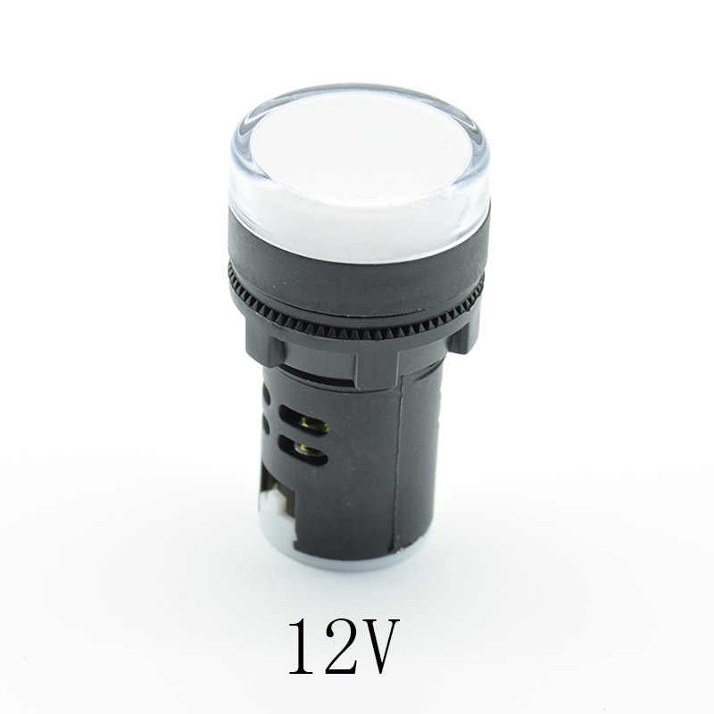 1 pieza 12V 24V 110V 220V 22mm montaje en Panel LED indicador de potencia piloto Luz de luz roja azul verde blanco amarillo indicador de luz