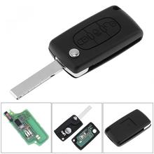 цена на 433MHz 3 Buttons Keyless Uncut Remote Key Fob with Light Button ID46 Chip HU83 Blade fit for Citroen C3 C4 C5 Models 2005-2011