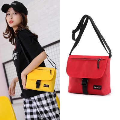 Kadınlar için 2020 yeni moda kişilik kız öğrenci şeker renkli naylon su geçirmez cep telefonu omuz askılı çanta