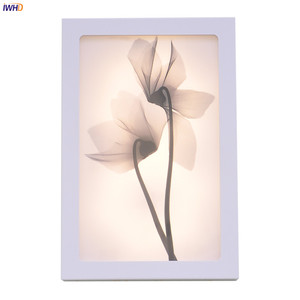 Image 1 - Fashion Arts Painting Wall Lamp Sconce12W Acrylic Modern Flower Wandlamp Bedroom Lights Fixture Stairs Applique Murale Luminaire