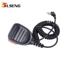 LSENG 2 Pins Walkie Talkie Speaker Mic PTT Two Way Radio Shoulder Microphone Compatible with Kenwood Baofeng Retevis Hytera