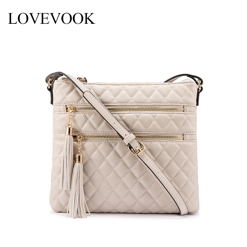 LOVEVOOK Crossbody Bags For Women 2019 Multi-pocket Envelope Bag Female Shoulder Messenger Bag For Ladies Pu Leather With Tassel