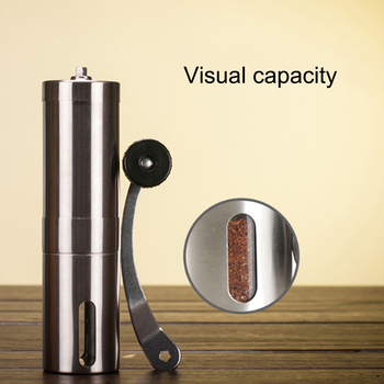Manual Coffee Grinder Stainless Steel offee Maker ceramics Body Adjustable Ceramic Conical Burr Hand Crank Mill Grinds Beans image