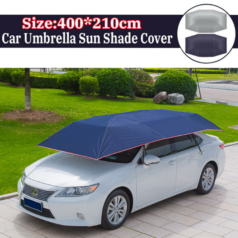 Car Cover 4 8M 4 2M Automatic Car Sun Shade Umbrella Car Cover Tent Anti-UV Protection car accessaries outdoor fishing