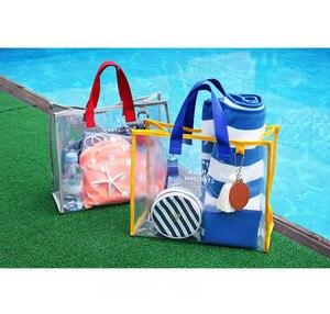 2019 Весна Лето Новая свежая летняя Прозрачная ПВХ сумка для плавания модная уличная дорожная пляжная дорожная сумка для скалолазания # YY
