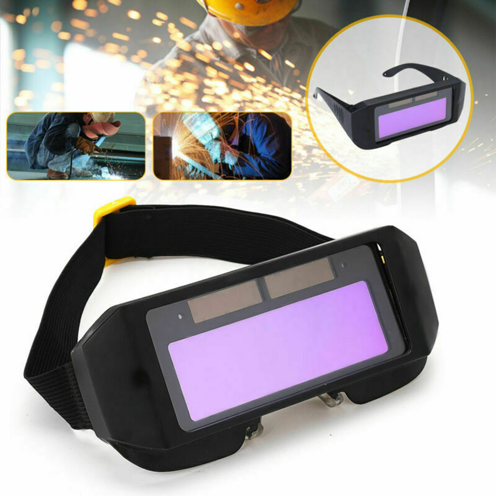 Lcd Car Solar Darkening Welding Goggles Mask Glasses Helmet Eyes Spare Parts Instury Professional Metal Iron Welding Goggle