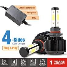 55W 자동차 라이트 Ampoule H7 Led H4 H11 H13 5202 9004 9007 9012 9005 9006 HB3 HB4 Led 전구 4면 12V Voiture 자동 램프