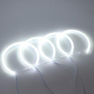 Image 2 - HochiTech لسيارات BMW E36 E38 E39 E46 العارض الترا برايت مصلحة الارصاد الجوية الأبيض LED عيون الملاك 2600LM 12 فولت خاتم على شكل هالة عدة النهار ضوء 131mmx4