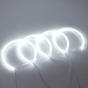 Image 2 - HochiTech per BMW E36 E38 E39 E46 proiettore Ultra luminoso SMD LED white angel occhi 2600LM 12V halo anello kit di luce luce di marcia diurna 131mmx4