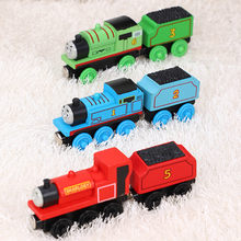 Игрушечный магнитный поезд Thomas and friends, Джеймс Гордон, Генри, игрушечный поезд, деревянный локомотив, подарок для детей, модель поезда, игрушк...