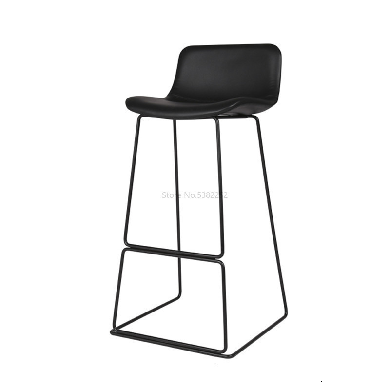 Northern Europe Bar Counter Chair Concise Coffee Chair Modern Industry Metal Bar Stool High Chair Chair