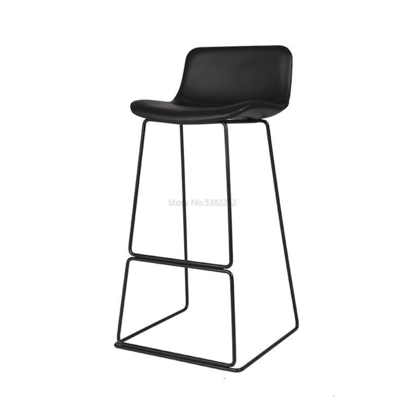 Northern Europe Bar Counter Chair Concise Coffee Chair Modern Industry Metal Bar Stool High Chair Chair