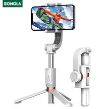 Bonola عصا سيلفي ذكية مضادة للاهتزاز ، حامل ثلاثي القوائم ، للهاتف الخلوي ، الرياضة ، التقاط الصور والفيديو ، بلوتوث