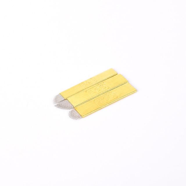 50 stks PCD 12/14/19 Pin Wenkbrauw Tatoo Blade Microblading Naalden Voor 3D Borduurwerk Handleiding Tattoo Pen Machine 4