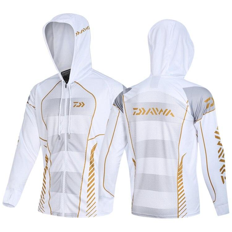 New 2020 Daiwa Men Fishing Clothings Windproof Zipper Jacket Anti-Mosquito Coat Fishing Jersey Running Riding Fishing Clothes