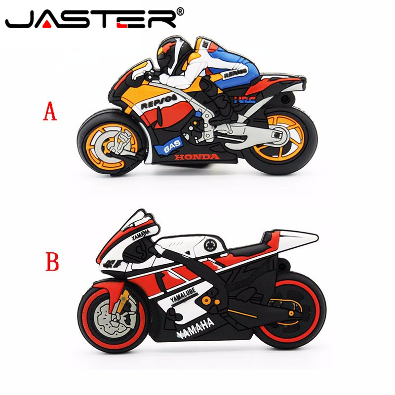 JASTER Usb 2.0 Cool Flash Drive Pendrive 64gb Pen Drive Cartoon Motorcycle 4gb 8gb 16gb Bulk Gifts Motor Car Memory Sticks Flash