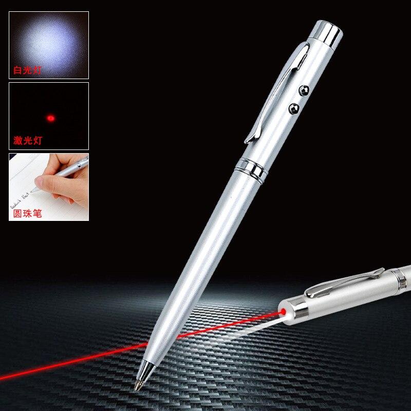 Многофункциональная металлическая шариковая ручка Led канцелярские инфракрасный шариковая ручка 1,0 мм черный пополнения черный Запасной ЖК...
