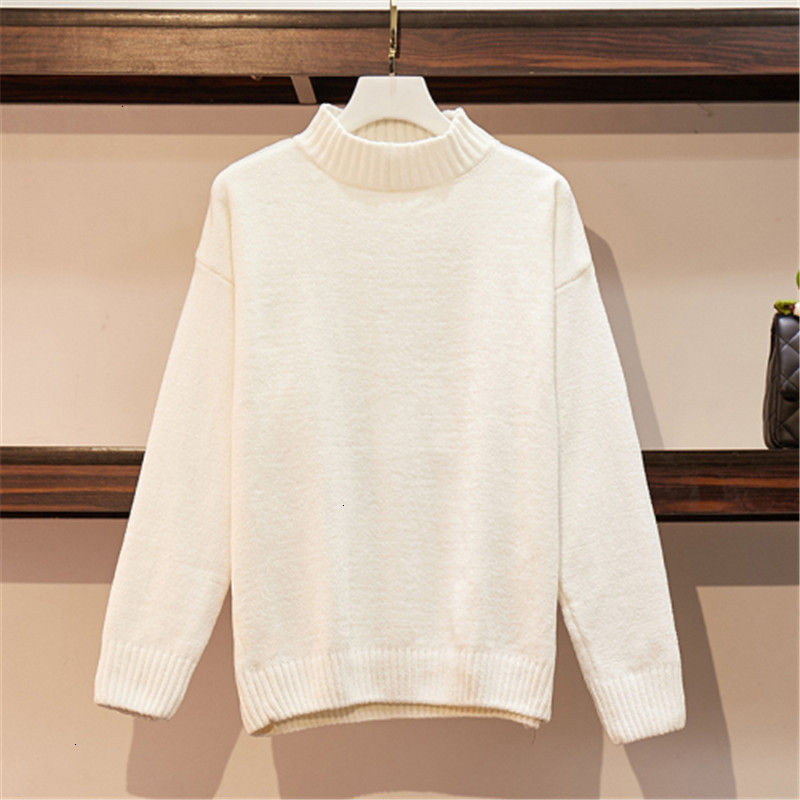 All Match Korea Casual Warm Fashion Velvet Pull Femme O-Neck Knitted Sweater Pullover Autumn Knitwear Sueter Mujer Long Sleeve