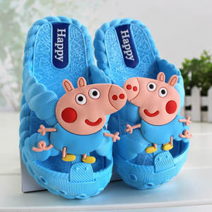 Baby Shoes Peppa Pig Girls Boys Children Original Summer Indoor Antiskid