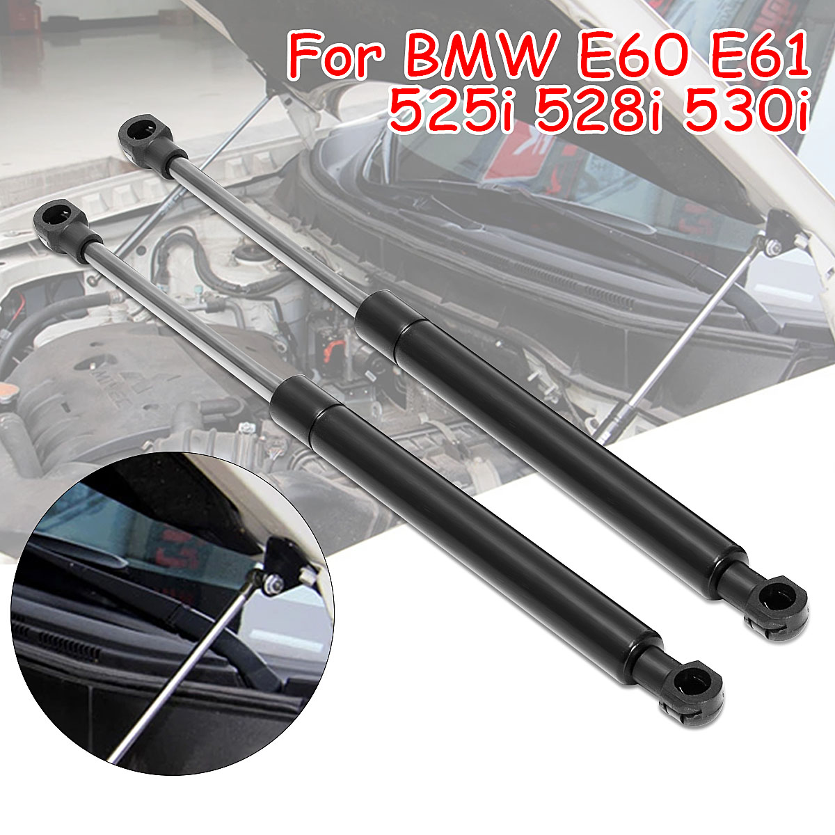Front Engine Cover Bonnet Hood Shock Lift Struts Bar Support Arm Gas Spring 502488586_X2 For BMW E60 E61 525i 528i 530i