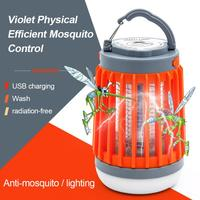 Lámpara antimosquitos 2 en 1 con USB, luz LED portátil para exteriores, repelente de insectos, trampa para mosquitos, para acampada