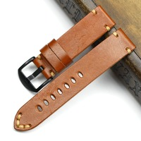 High Quality Retro Genuine Leather Watchband Watch Straps 18mm 19mm 20mm 22mm 24mm Watch Strap Band Belts Pin Buckle Men Women