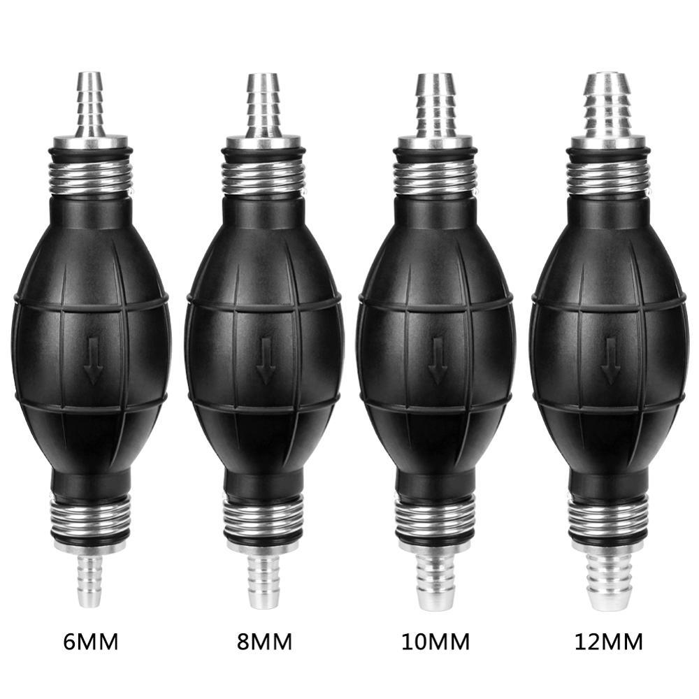 Pompe à essence universelle en caoutchouc manuelle pompe de transfert d'huile liquide essence Diesel amorce ampoule pour voiture Marine hors-bord 6/8/10/12mm