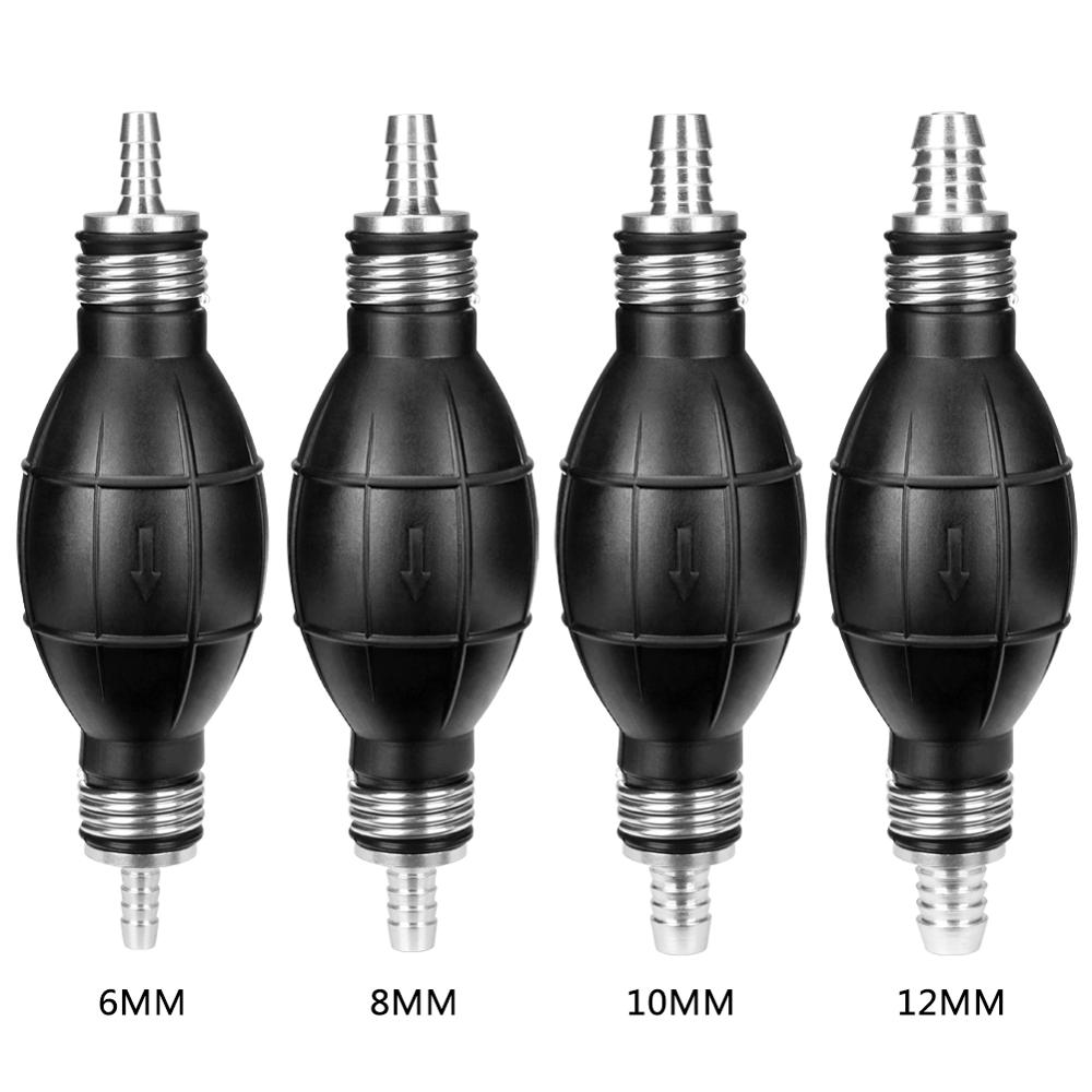 Universal Fuel Pump Rubber Manual Liquid Oil Transfer Pump Petrol Diesel Hand Primer Bulb For Car Marine Outboard 6/8/10/12mm
