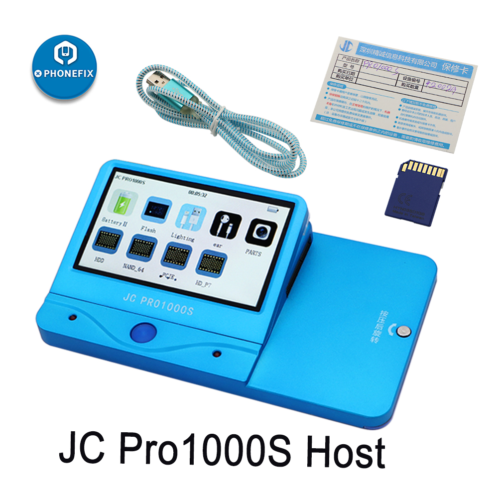 JC Pro1000S P7 Pro JC P11 NAND Programmer Read Write Serial Number NAND Test Error Repair for iPhone 5SE 6S 6SP 7 7P iPad Pro