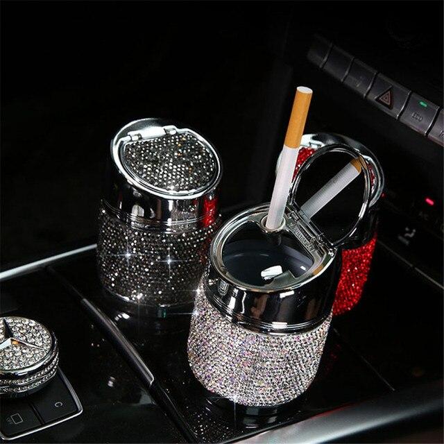 Diamond Car Ashtray For Girl Women