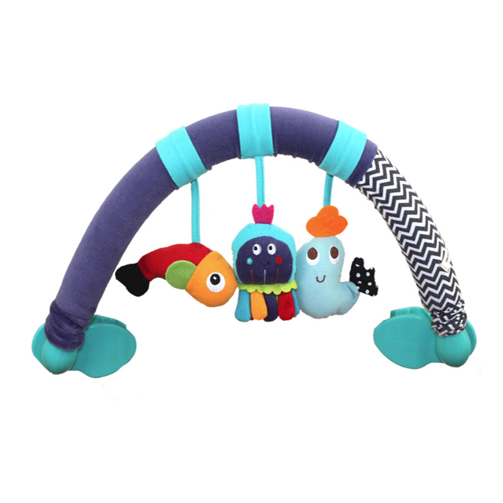 Rattles ABS + Sponge Stroller Toy Rattles Toy Baby Travel Play Arch Stroller,Crib Accessory Soft Cute Handbell Bed Hanging